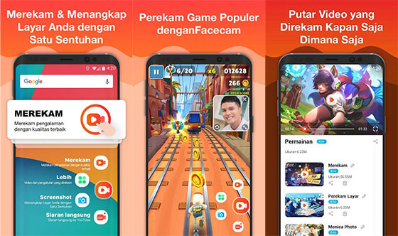 Aplikasi Perekam Layar HP Android Du Screen recorder